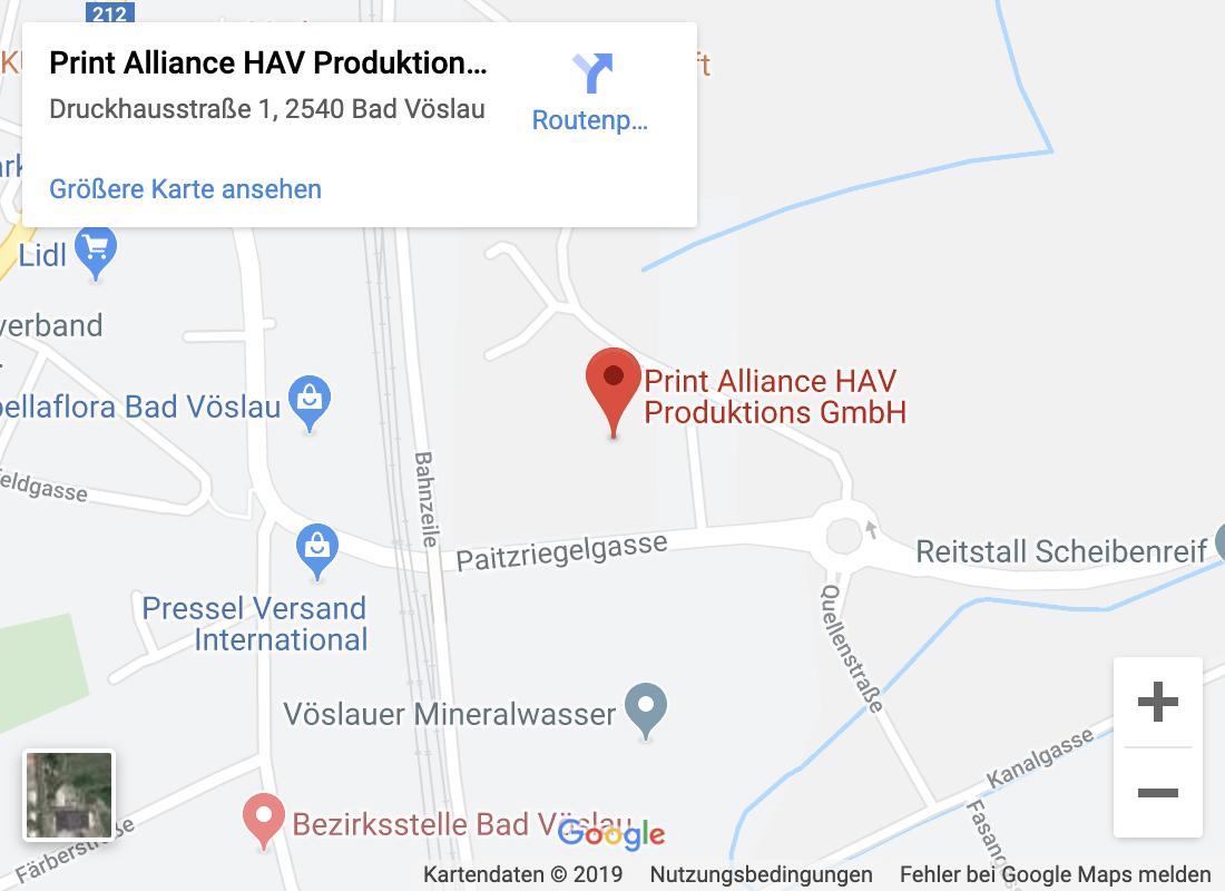 Gutenberg Druck Adresse - Google Maps